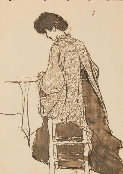 CHEVTCHENKO ALEXANDRE (1882-1948)  Femme...