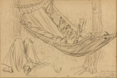 ROUBTZOFF ALEXANDRE  (1884-1949)  Le Hamac...