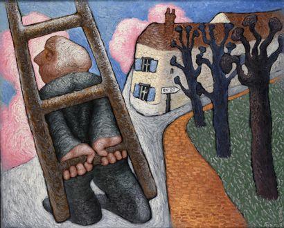 BEGOV Aleksey (1951)  Torfou  Huile sur toile...
