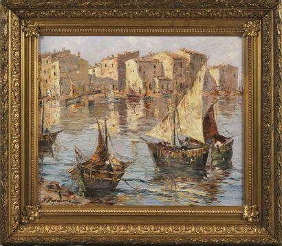 LAPCHINE Georges (1885-1950/51)  Marine  Huile...