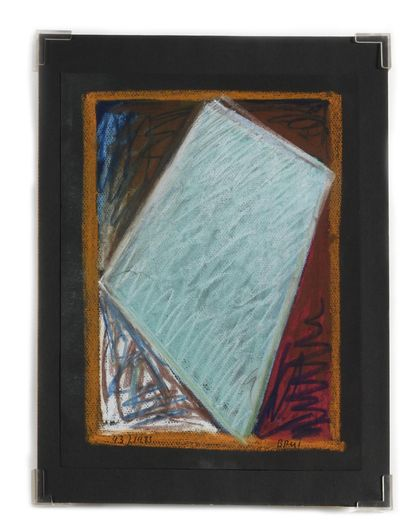 BRUÏ William (1946)  Abstraction  Pastel...