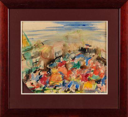 EZUCHEVSKI MIKHAIL (1880-1928)  Paysage  Aquarelle...