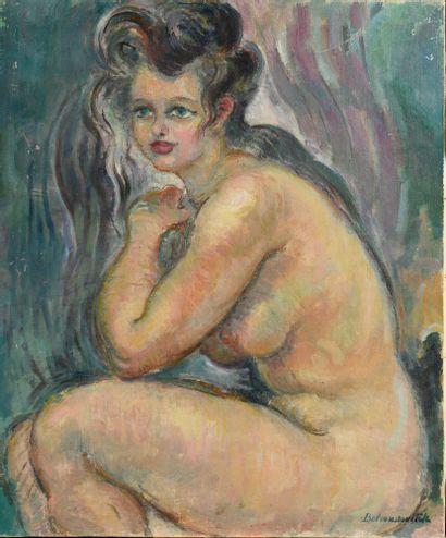 BELOUSSOVITCH BORIS (1886-1987)  Nu assis...