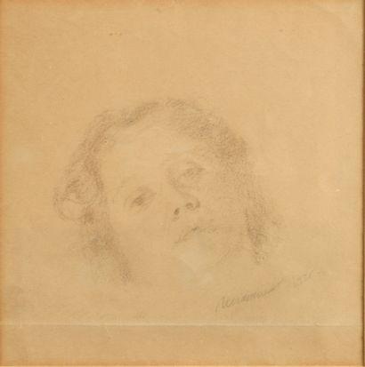 IOGANSON BORIS (1893-1973)  Dessin préparatoire de double face pour le tableau «...