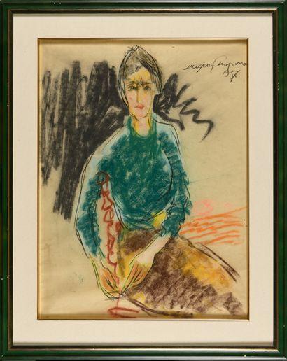 CHAPIRO JACQUES (1887-1992)  Portrait d'une...