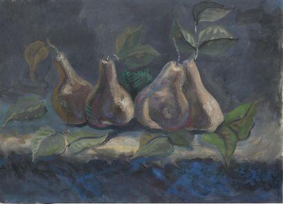 SHEVCHENKO Aleksander  (1883-1948), attribué à  Nature morte avec des poires  1931...