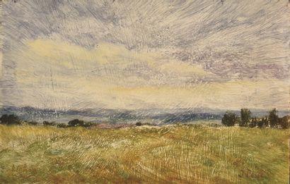 PESKE IVAN (1870-1949)  Paysage, Liéhon  Huile...
