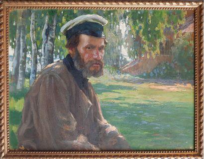 SERGEEF Nicolai (1908-1989)  Portrait d'homme...