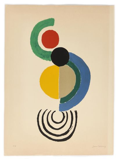 DELAUNAY SONIA (1885-1979)  Abstraction  Lithographie...