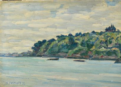 PORTNOFF MICHEL (1885-1978)  Dinard  Huile...