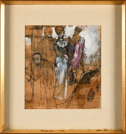 BERMAN EUGENE (1899-1972)  La Guerre  Encre,...