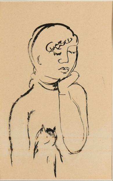SAFRONOVA ANTONINA (1892-1966)  Dessin à...