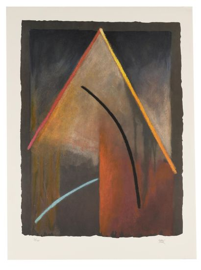 BRUÏ WILLIAM (1946)  Abstraction  Lithographie...