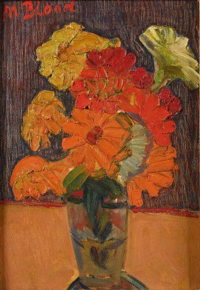 BLOND MAURICE (1899-1974)  Bouquet de fleurs...