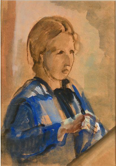 PESTEL VERA (1886/87-1952)  Fille en robe...