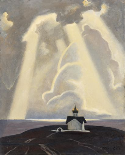 OSSOVSKY Pyotr (1925-2015)  Chemin vers l'Église...