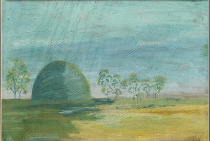 KUZNETSOV Pavel (1878-1968)  Paysage  Technique...