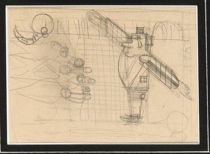 LABAS ALEXANDRE (1900-1983)  L'Avion sur...