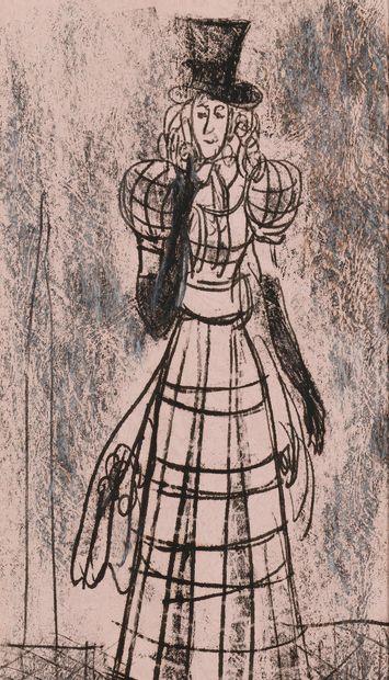BRUNI Lev (1894-1948), attribué à  Chanteuse...