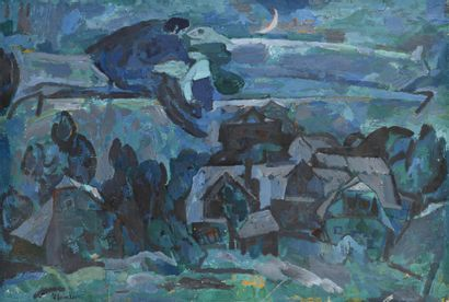 ZEITLIN NAUM (1909-1997)  La Nuit  Huile...