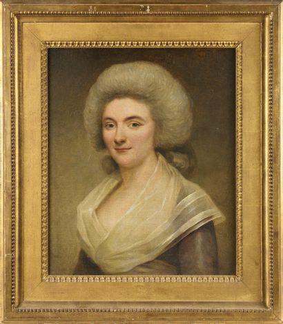 * ECOLE FRANÇAISE VERS 1780 Portrait de dame...