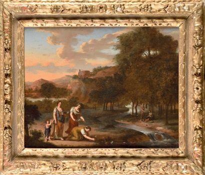 ATTRIBUE A GERARD HOET (1648 - 1733) Femmes...