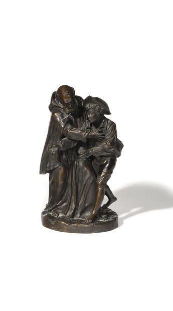 ÉCOLE DU XIXE SIECLE Le mendiant Sculpture...