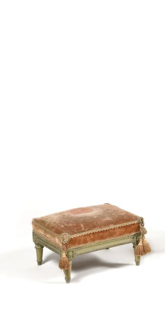 REPOSE PIED en bois sculpté, la ceinture...
