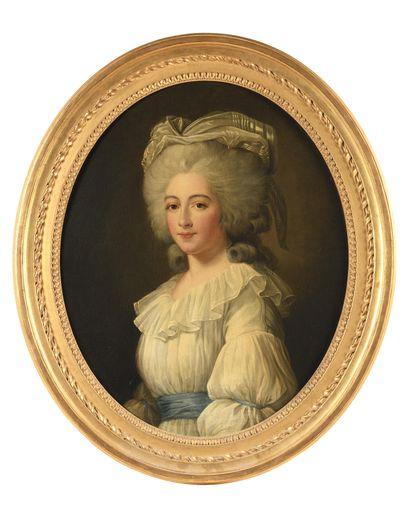 * ECOLE FRANÇAISE VERS 1785 Portrait de Marie...