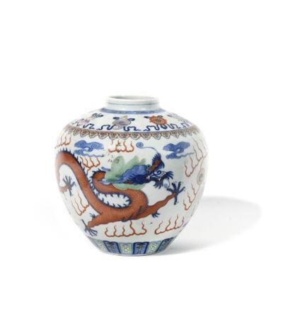 * CHINE Pot à gingembre en porcelaine de...