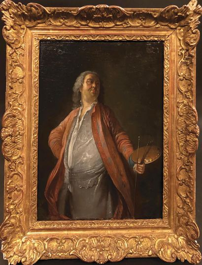 ECOLE FRANÇAISE DU XVIIIE SIECLE, SUIVEUR DE JACQUES DE LAJOÜE Portrait de peintre...