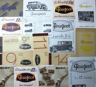 Documentation Peugeot Années 1925 à 1927...