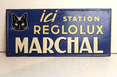 Plaque Marchal Reglolux- 1958  Plaque rectangulaire...