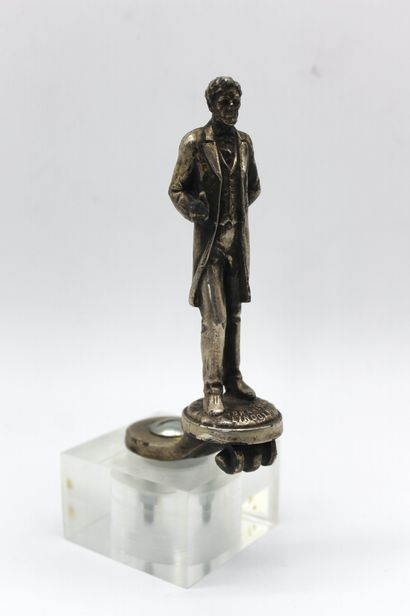 Abraham Lincoln  Mascotte en bronze argent,...