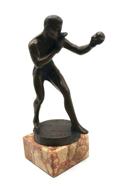 Mascotte Boxeur  Statuette de radiateur en...