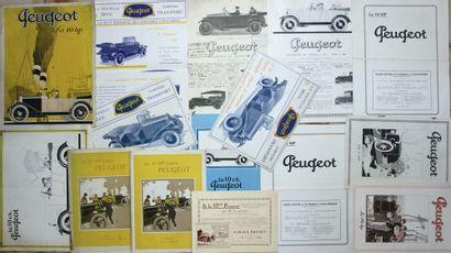 Catalogues Peugeot 10 cv. Nombreuses illustrations...