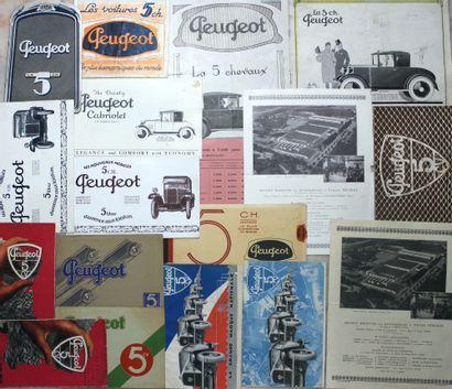 Catalogues Peugeot 5 cv  Catalogue 8 pages,...