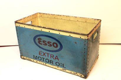 Caisse Esso  Caisse rectangulaire en métal,...