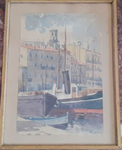 H. GUMEY  Clocher de l'église de Saint Tropez...