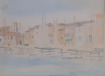 FULCIO (?)  Voiliers au port de St Tropez...