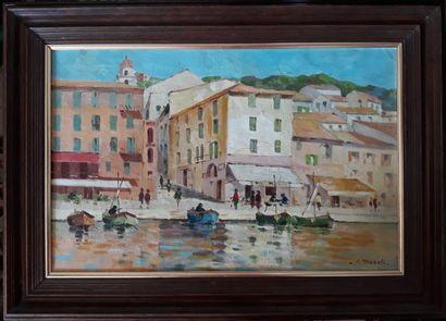 A. AIGUETTE (?)  Le port de Saint Tropez...
