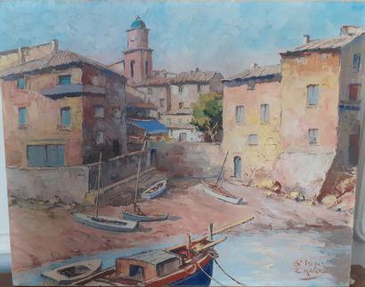 L. MILLET  Le petit port de Saint Tropez...