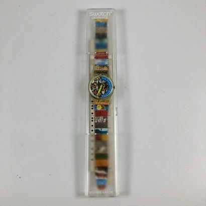 SWATCH Vers 1992. Réf: GZ126. Montre bracelet...