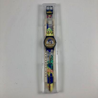 SWATCH Vers 1990. Réf: GN120. Montre bracelet...