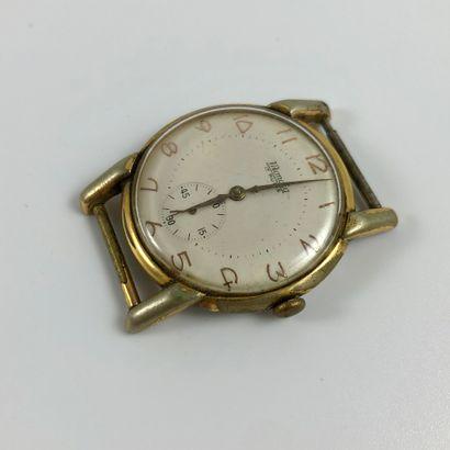MONDIA 17 RUBIS. VERS 1950. Réf 2090218. Boîtier en acier inoxydable. Cadran blanc,...