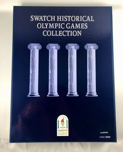 SWATCH  Vers 1995.  Réf: SZ802.  Coffret de neuf montres bracelet édition limitée...