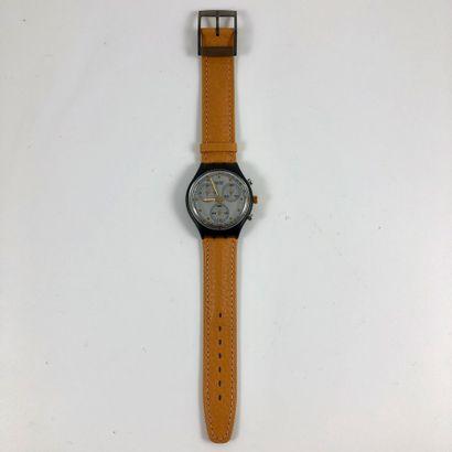 "SWATCH  Vers 1991.  Réf: SCM101.  Montre bracelet type chronographe modèle ""Sirio""...."