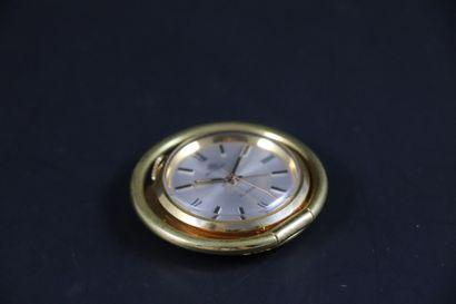 BUCHERER Pendulette de voyage - Réveil, vers 1960 Pendulette réveil de voyage ou...