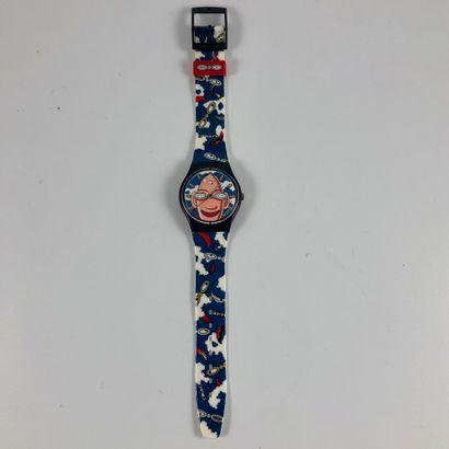 """SWATCH  Vers 1996.  Réf: GZ700.  Montre bracelet modèle """"Looka - Swatch Collector's""""...."""