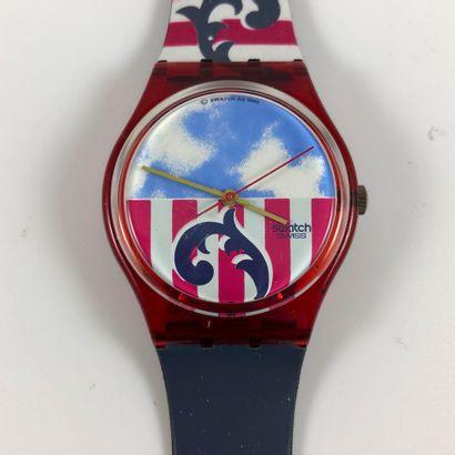 """SWATCH  Vers 1990.  Réf: GR109.  Montre bracelet modèle """"The Boss"""".  Mouvement quartz...."""